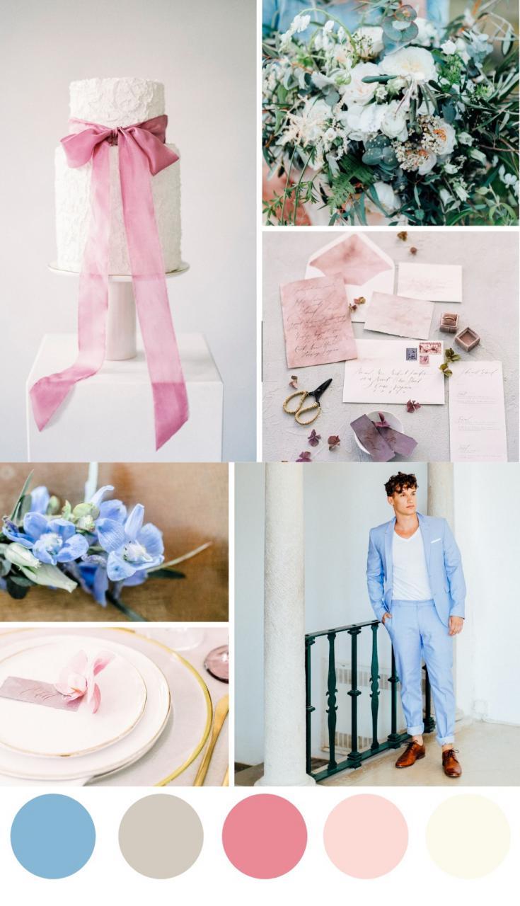 5 bảng màu cưới hoàn hảo cho hôn lễ vào mùa xuân